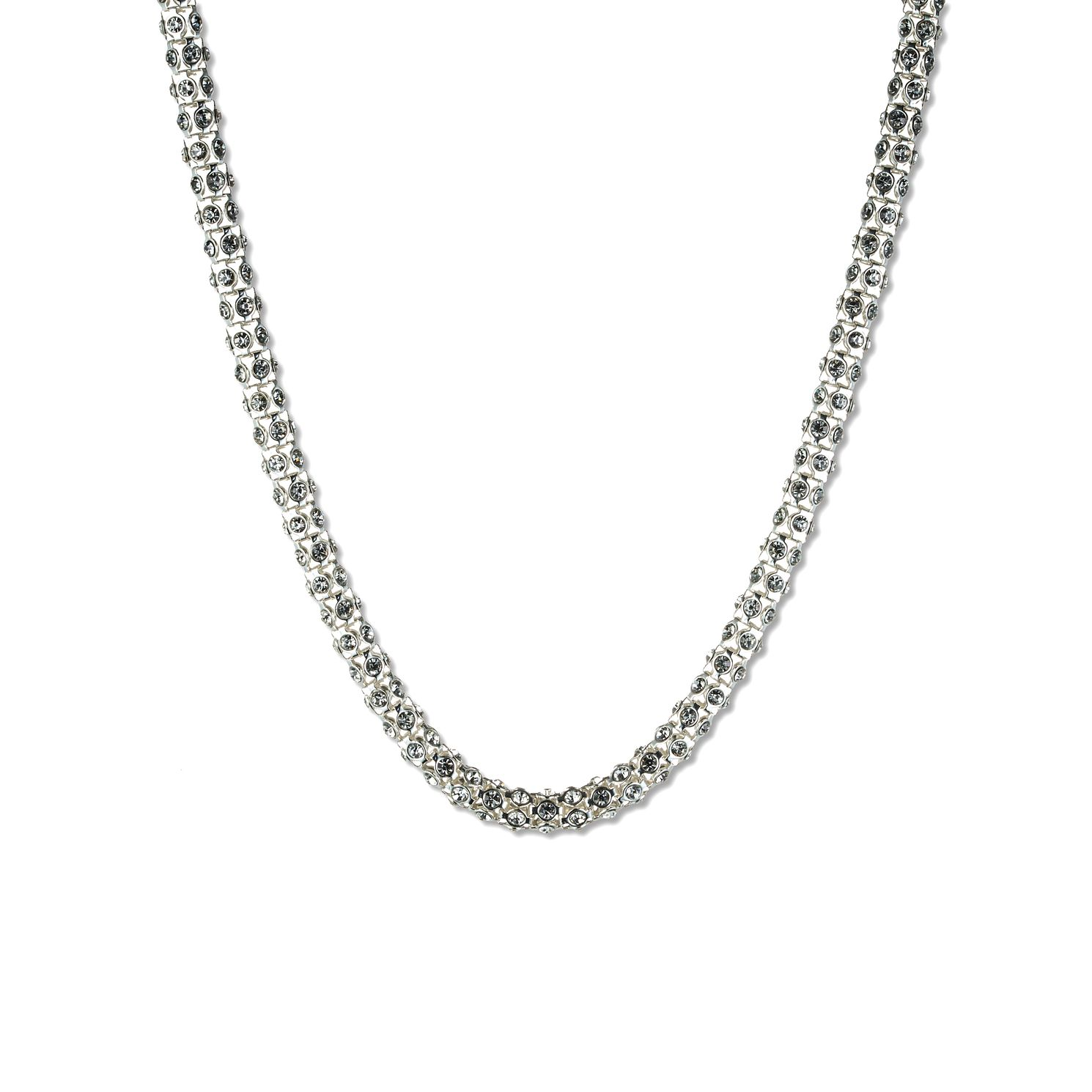 Annie Klein Silver Crystal Pave Necklace 16 incheses - Product number 1083376
