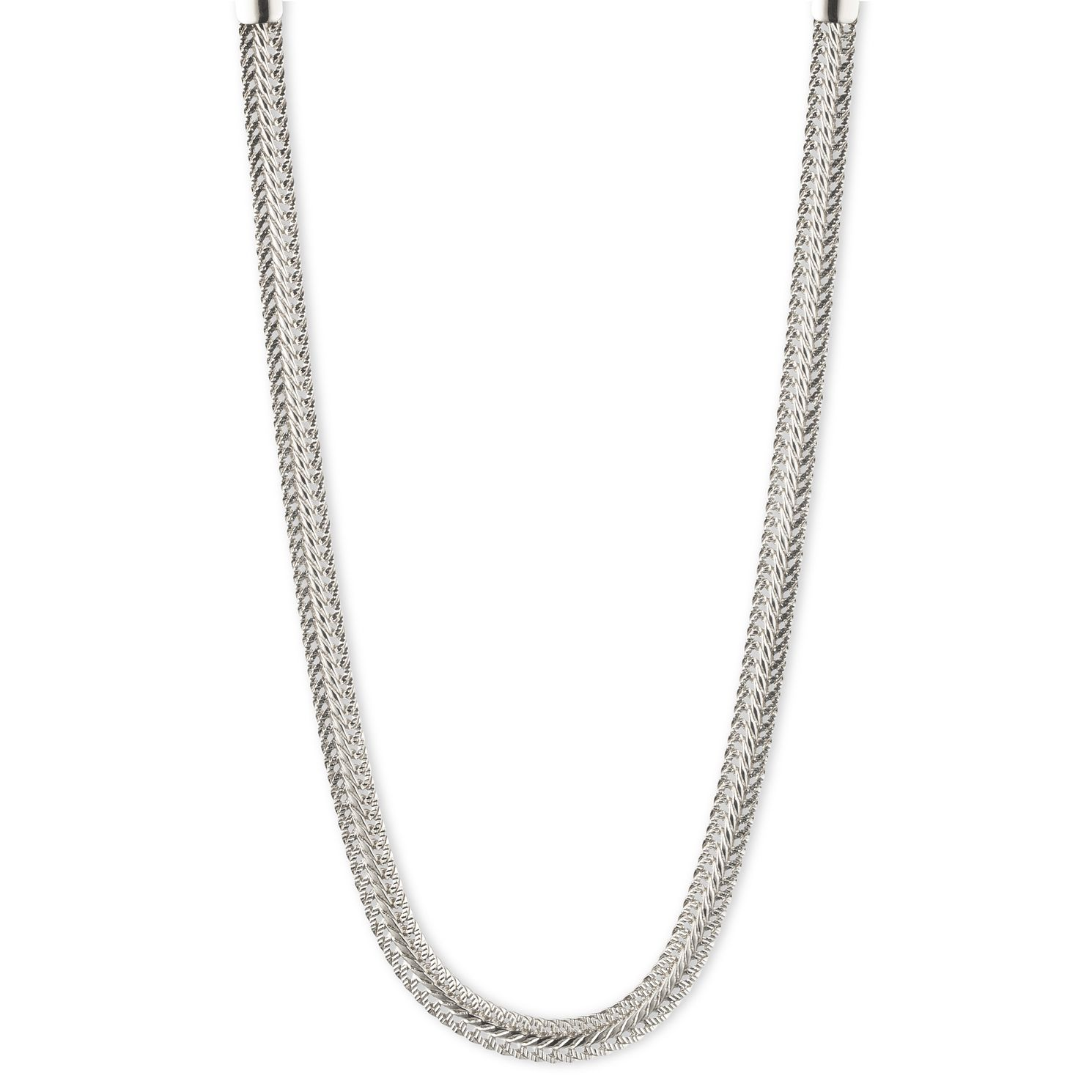 Annie Klein Silver Tone Flat Chain Necklace - Product number 1083406