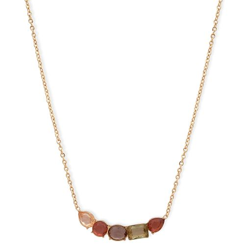 Anne Klein Fall In Love Multi-Stone Pendant Necklace - Product number 1083414