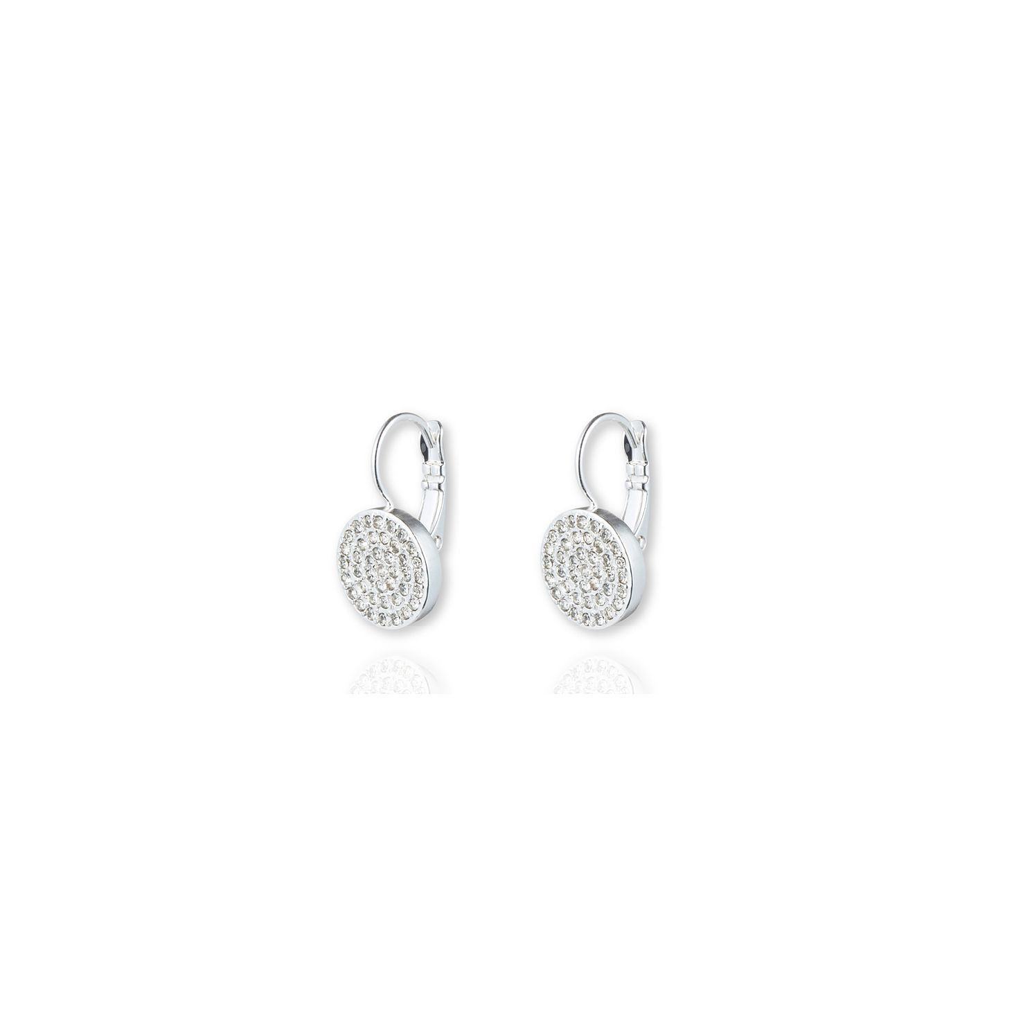 Annie Klein Silver Crystal Pave Disc Drop Earrings - Product number 1083430