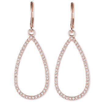 Annie Klein Rose Gold Tone Crystal Tear Drop Earrings - Product number 1083465