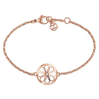 Tommy Hilfiger Rose Gold Plated Coin Bracelet - Product number 1083562