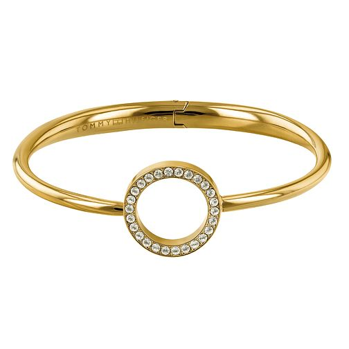 Tommy Hilfiger Gold Plated Open Circle Bangle - Product number 1083589