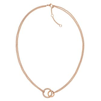 Tommy Hilfiger Rose Gold Plated Open Circle Necklace - Product number 1083678