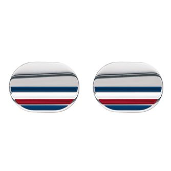 Tommy Hilfiger Silver Striped Cufflinks - Product number 1083775