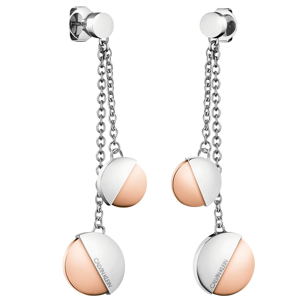 Calvin Klein Rose Gold Tone Drop Earrings - Product number 1083864