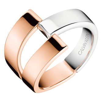 Calvin Klein Silver & Rose Gold Plated Ring - Product number 1083872
