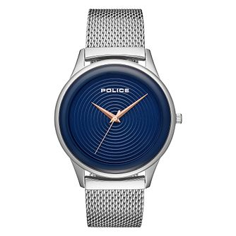 Police Salerno Men's Stainless Steel Mesh Bracelet Watch - Product number 1084054