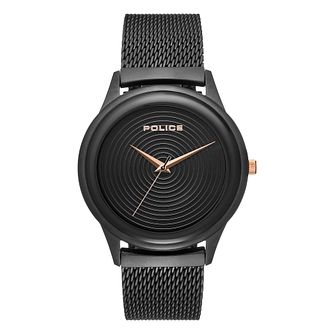 Police Salerno Men's Black Stainless Steel Bracelet Watch - Product number 1084070