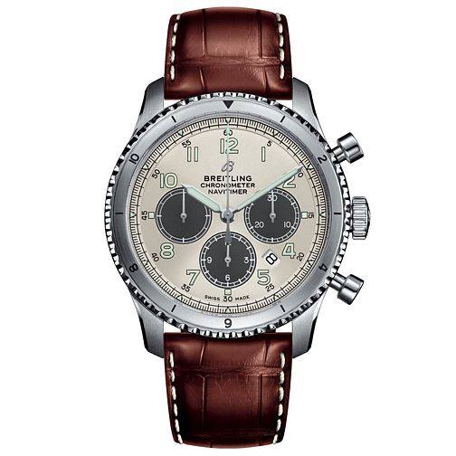 Breitling Navitimer 8 B01 Men's Brown Leather Strap Watch - Product number 1084127