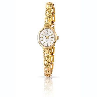 Accurist 9ct Gold Oval Bracelet Watch - Product number 1084283