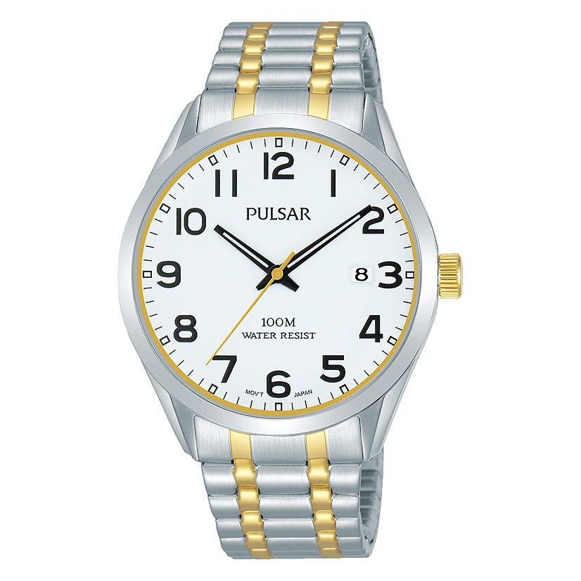 Pulsar Men's Two Tone Expanding Bracelet Watch - Product number 1084372