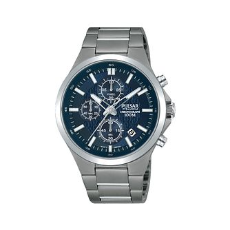 b697e1ff3 Pulsar Men's Titanium Chronograph Watch - Product number 1084380