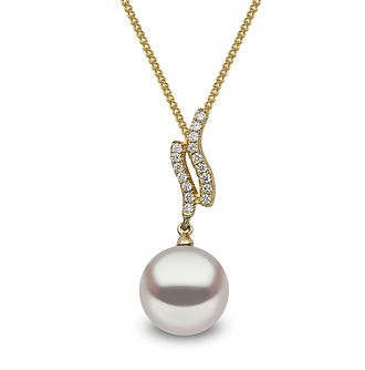 Yoko London 18ct Yellow Gold Cultured Pearl Diamond Pendant - Product number 1084712