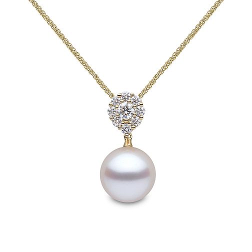 Yoko London 18ct Yellow Gold Cultured Pearl Diamond Pendant - Product number 1084798