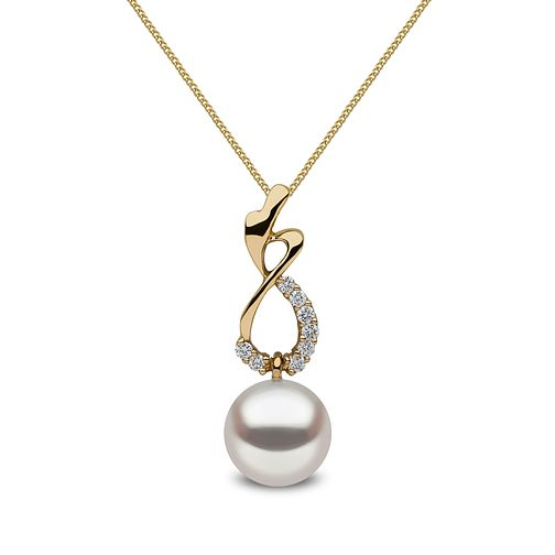 Yoko London 18ct Yellow Gold Cultured Pearl Diamond Pendant - Product number 1084801