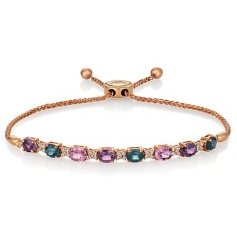 Le Vian 14ct Strawberry Gold Mixberry Spinel Bolo Bracelet - Product number 1086421
