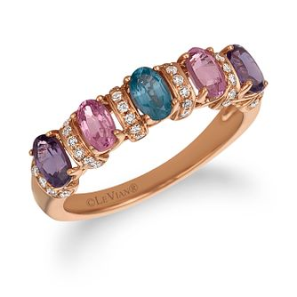 Le Vian 14ct Strawberry Gold Mixberry Spinel & Diamond Ring - Product number 1087541