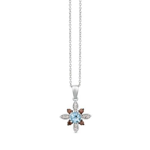 Le Vian 14ct Vanilla Gold Aquamarine & Diamond Pendant - Product number 1087738
