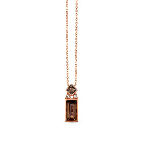 Le Vian 14ct Strawberry Gold Chocolate Quartz Pendant - Product number 1087746