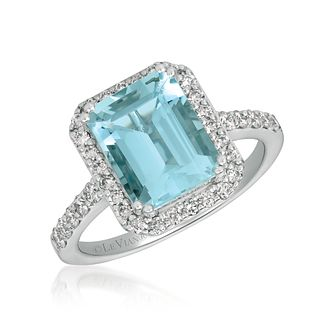 Le Vian 14ct Vanilla Gold Aquamarine & 0.45ct Diamond Ring - Product number 1087754