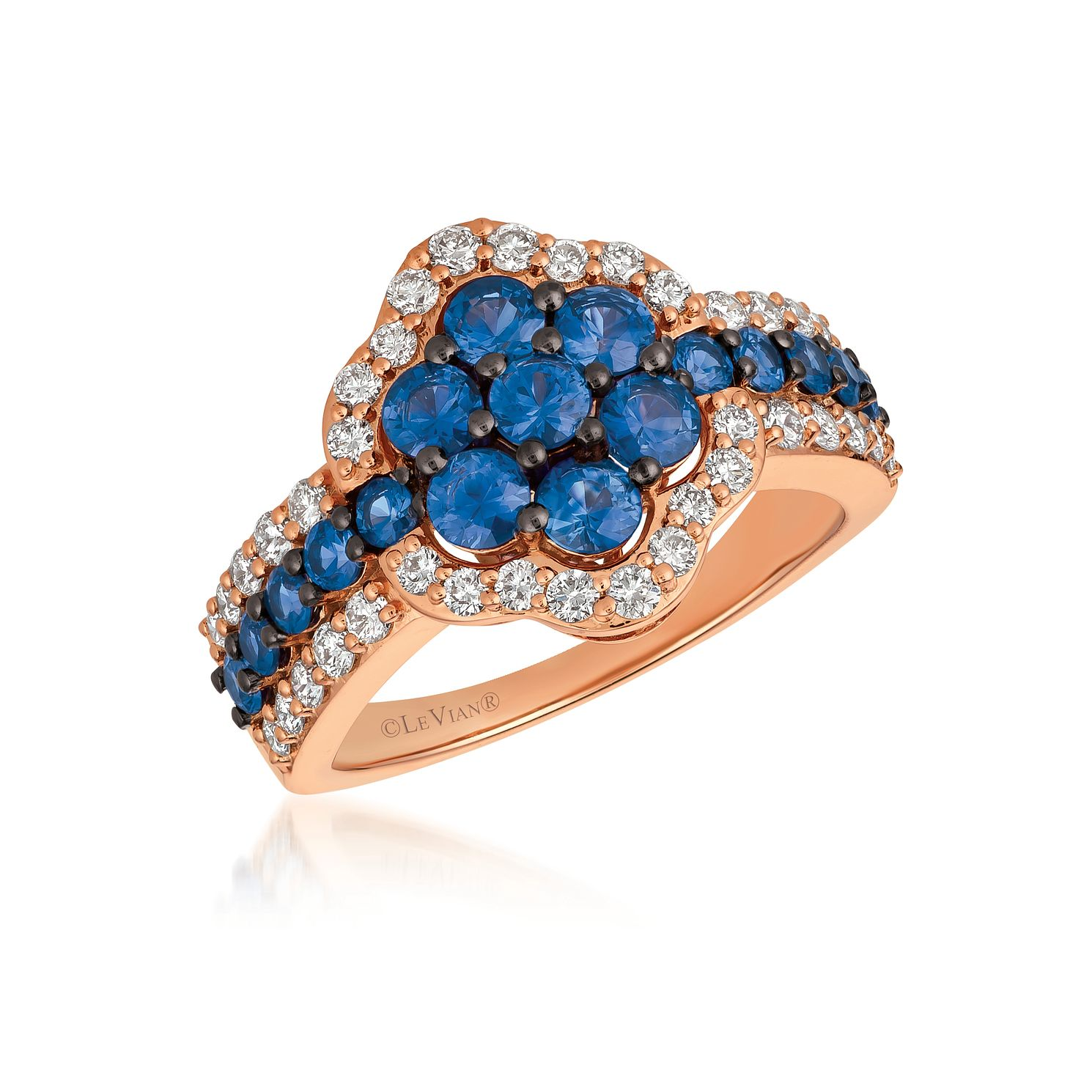 Le Vian 14ct Strawberry Gold Sapphire & 0.58ct Diamond Ring - Product number 1087886