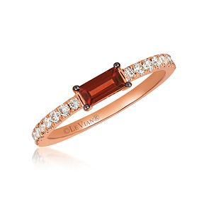 Le Vian 14ct Strawberry Gold Pomegranate Garnet Diamond Ring - Product number 1089803