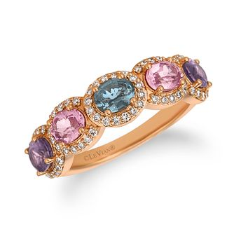 Le Vian 14ct Strawberry Gold Mixberry Spinel & Diamond Ring - Product number 1090313