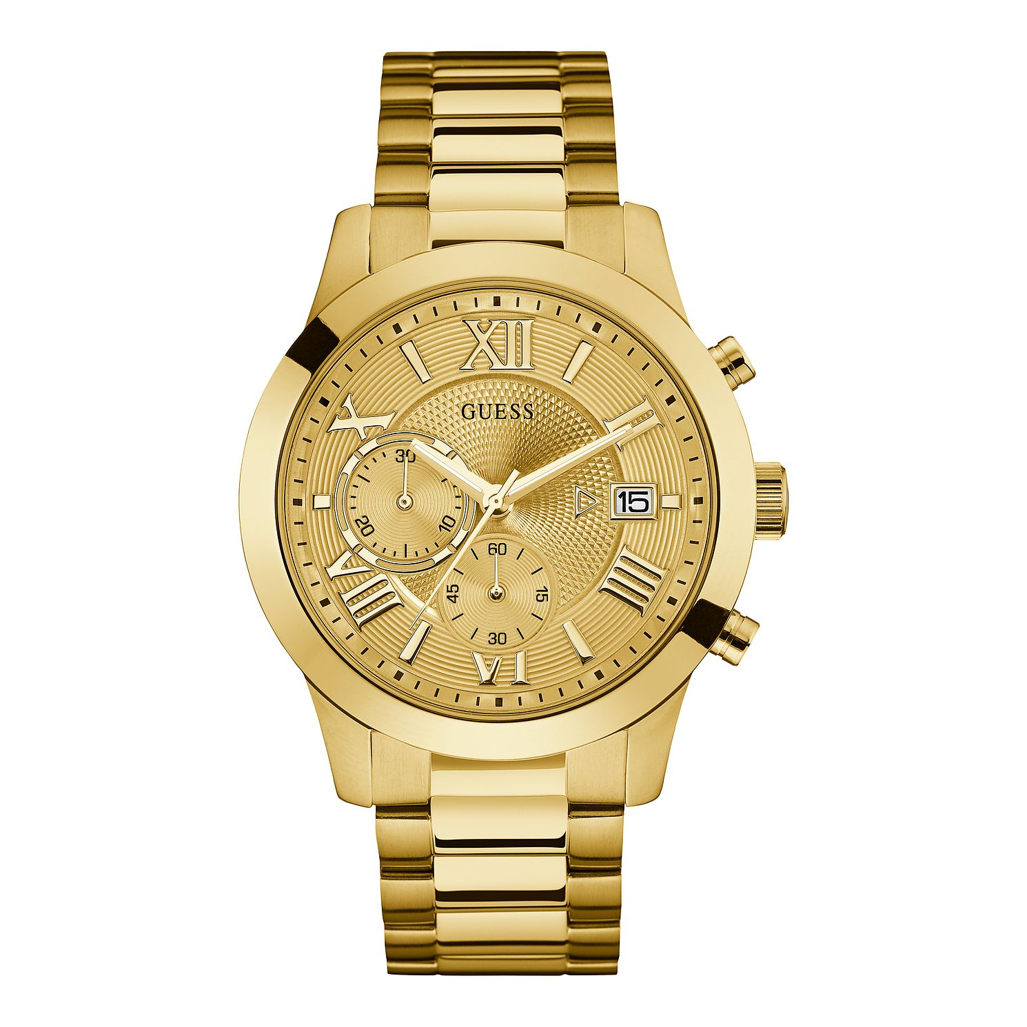 Guess Men's Chronograph Gold Tone Bracelet Watch - Product number 1090763