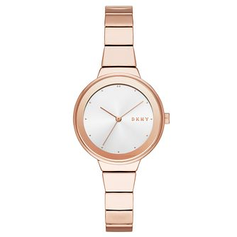 DKNY Astoria Ladies' Rose Gold Alloy Bracelet Watch - Product number 1092340