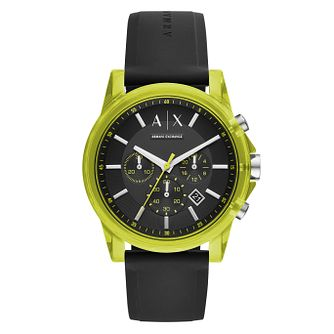 Armani Exchange Men's Black Silicone Strap Watch - Product number 1092480
