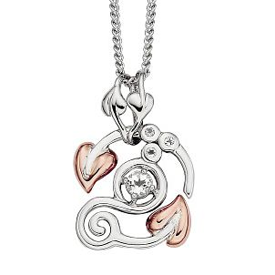 Clogau Silver & 9ct Rose Gold Origin Pendant - Product number 1092707