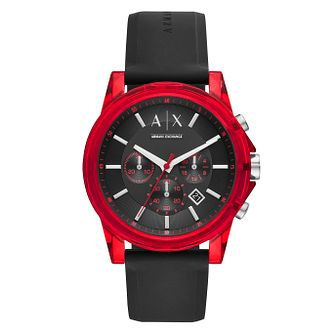 Armani Exchange Men's Black Silicone Strap Watch - Product number 1093037