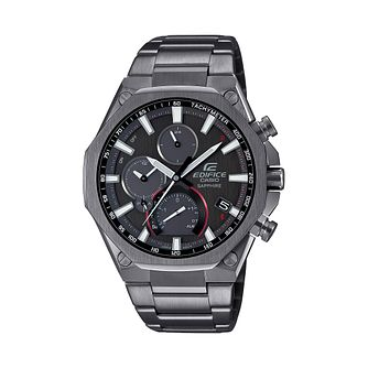 Casio Edifice Chronograph Men's Grey IP Bracelet Watch - Product number 1094300