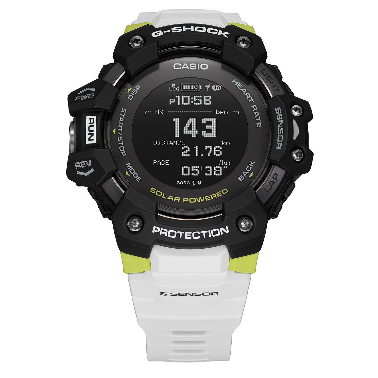 Casio G-Shock Heart Rate Monitor Men's White Resin Watch - Product number 1094335