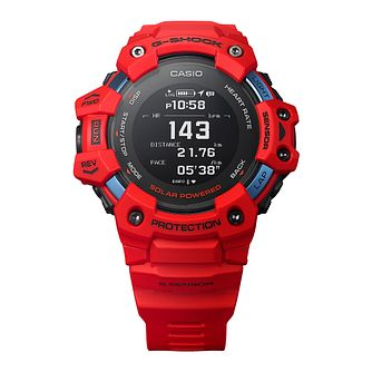 Casio G-Shock Heart Rate Monitor Men's Red Resin Watch - Product number 1094343