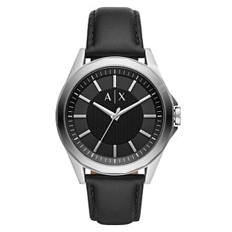 Armani Exchange Drexler Men's Black Leather Strap Watch - Product number 1095390