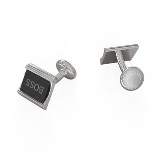 BOSS Gregory Men's Black Enamel Square Cufflinks - Product number 1096397