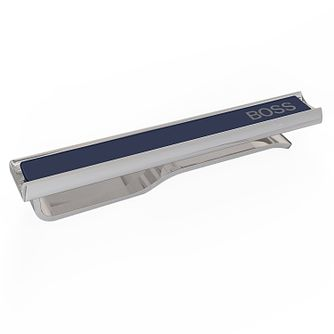 BOSS Gregory Men's Blue Enamel Tie Clip - Product number 1096427