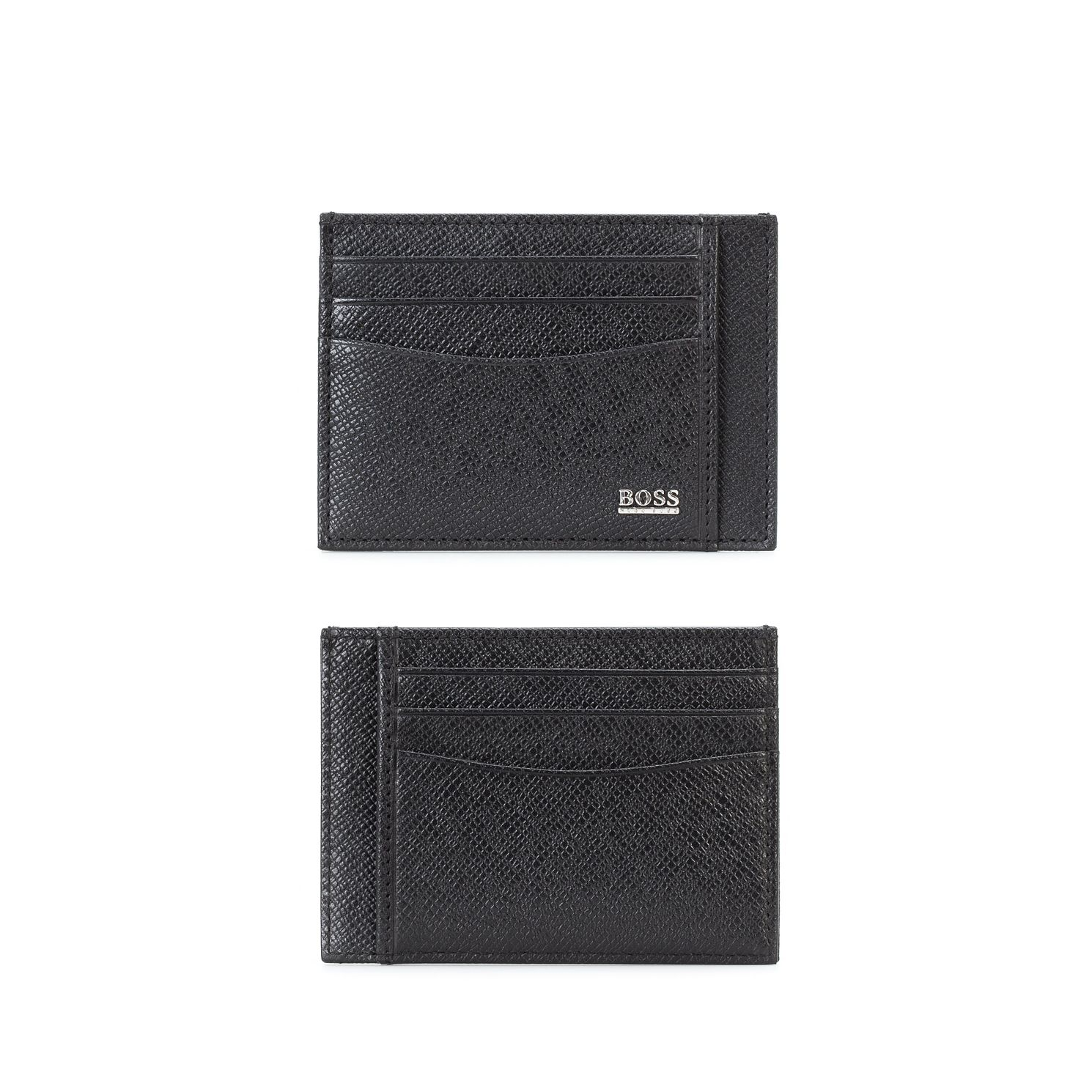 BOSS Signature Men's Black Leather Cardholder - Product number 1096761