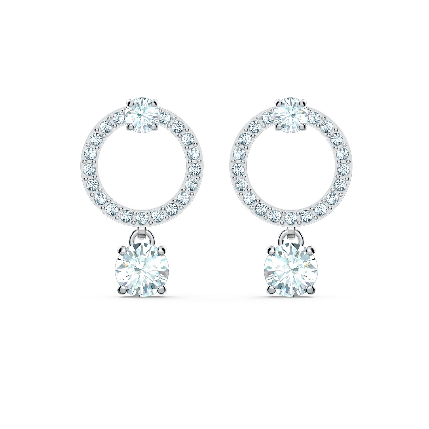 Swarovski Attract Circle Crystal Rhodium Plated Earrings - Product number 1096850