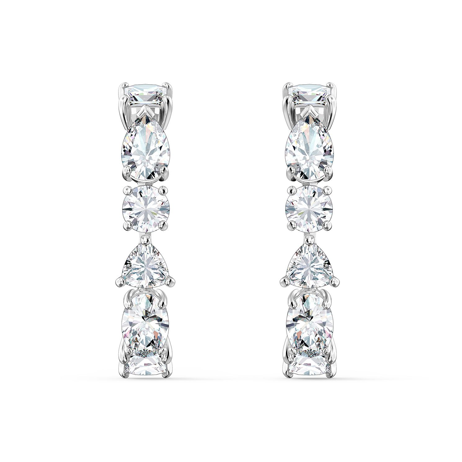 Swarovski Tennis Deluxe Crystal Rhodium Plated Cuff Earrings - Product number 1096869