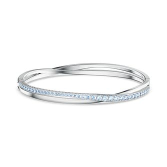 Swarovski Twist Rows Crystal Rhodium Plated Bracelet - Product number 1096923