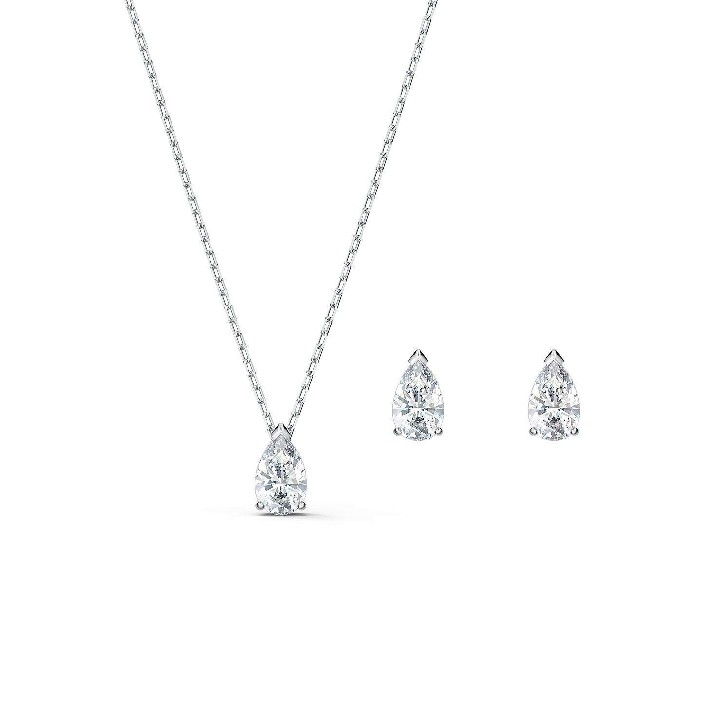 Swarovski Attract Pear Crystal Rhodium Plated Gift Set - Product number 1096958