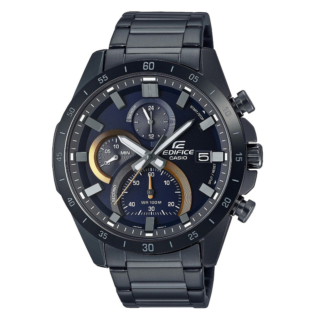 Casio Edifice Chronograph Black IP Bracelet Watch - Product number 1096990