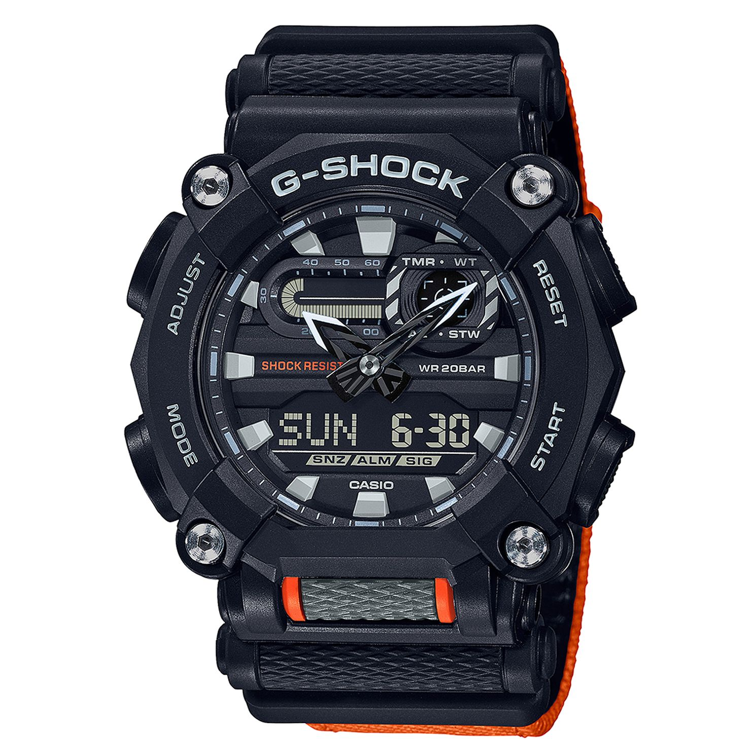 Casio G-Shock Heavy Duty Men's Orange Resin Strap Watch - Product number 1097032