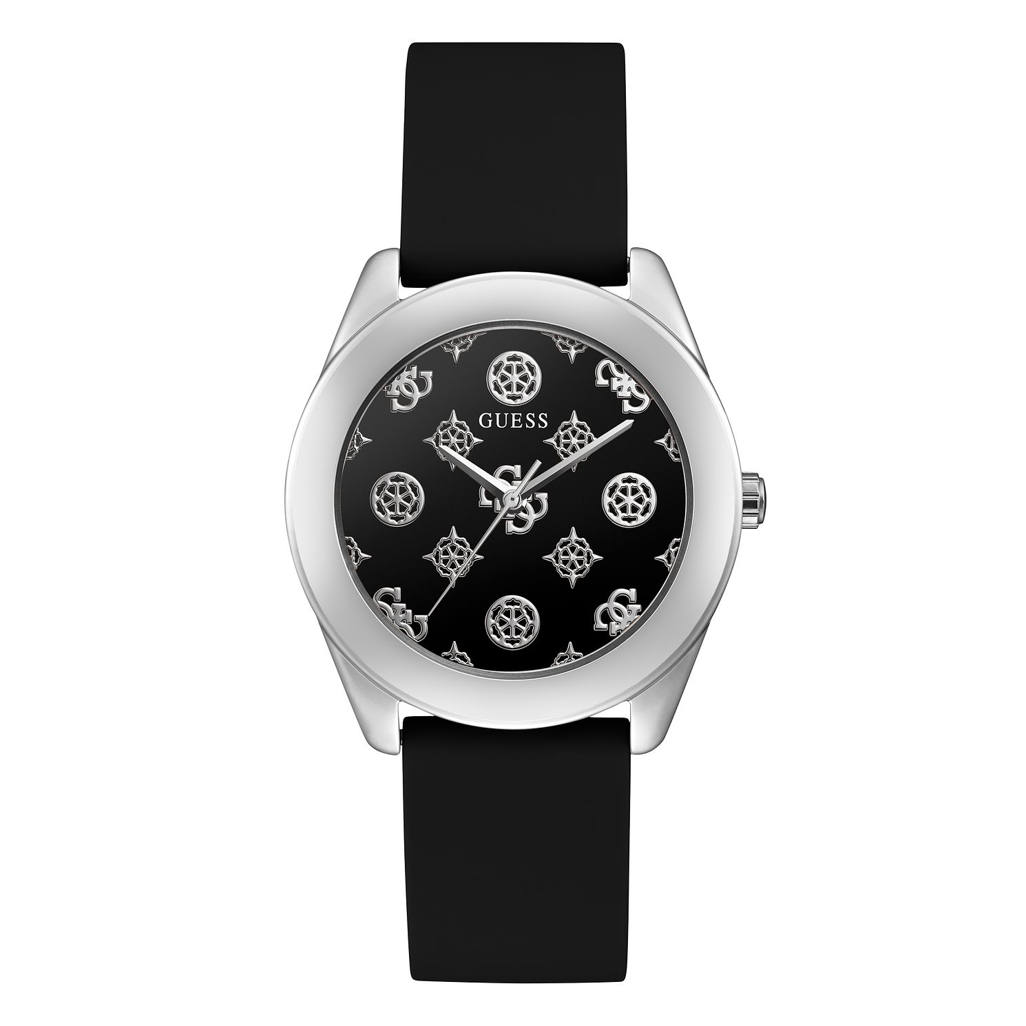 Guess Peony G Ladies' Black Silicone Strap Watch - Product number 1097172