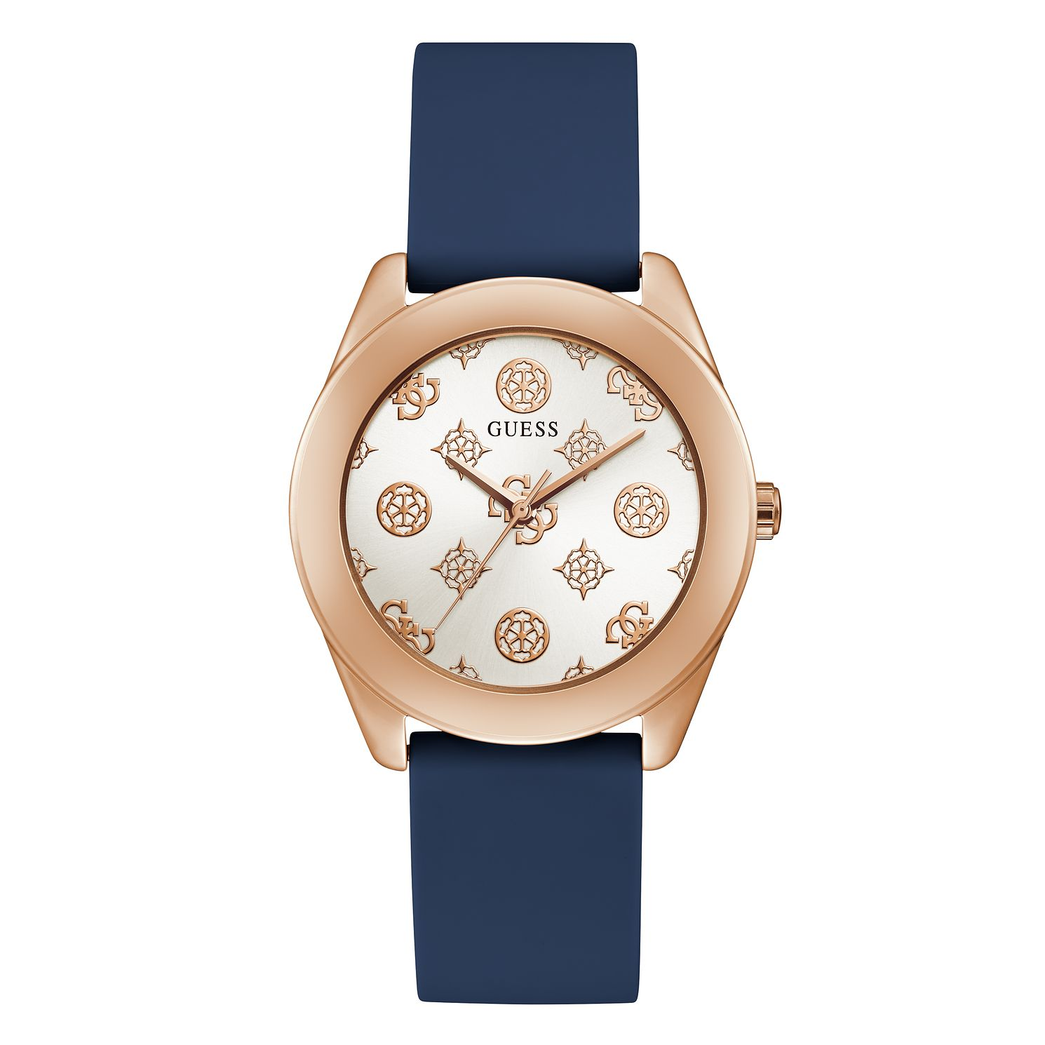 Guess Peony G Ladies' Blue Silicone Strap Watch - Product number 1097180