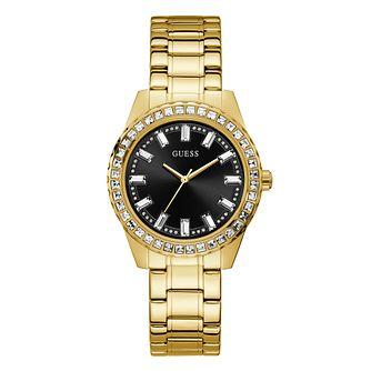 Guess Sparkler Ladies' Yellow Gold Tone Bracelet Watch - Product number 1097210