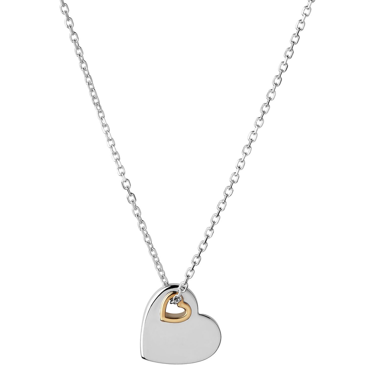 Links Of London Silver & Yellow Gold Plated Heart Pendant - Product number 1097687